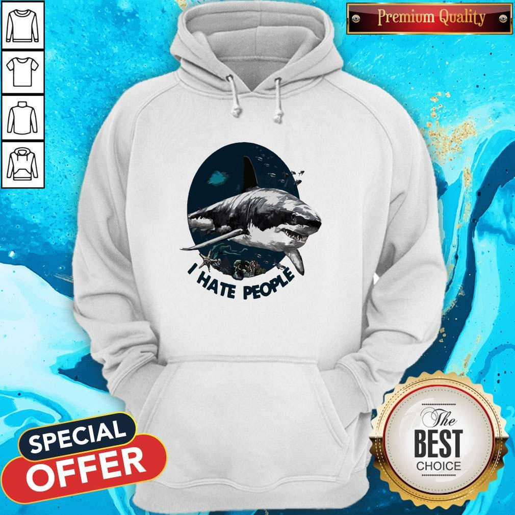 Official Shark I Hate People Hoodie