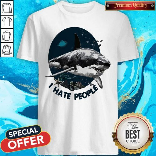 Official Shark I Hate People Shirt