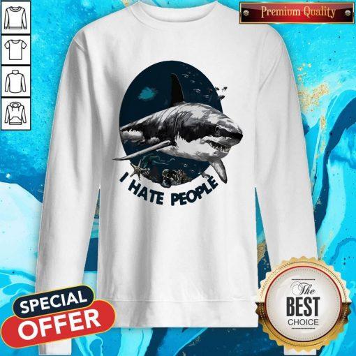Official Shark I Hate People Sweatshirt