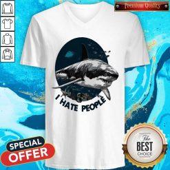 Official Shark I Hate People V-neck