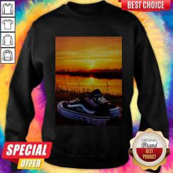 Official Sunset Sport Shoes Picture Sweatshirt