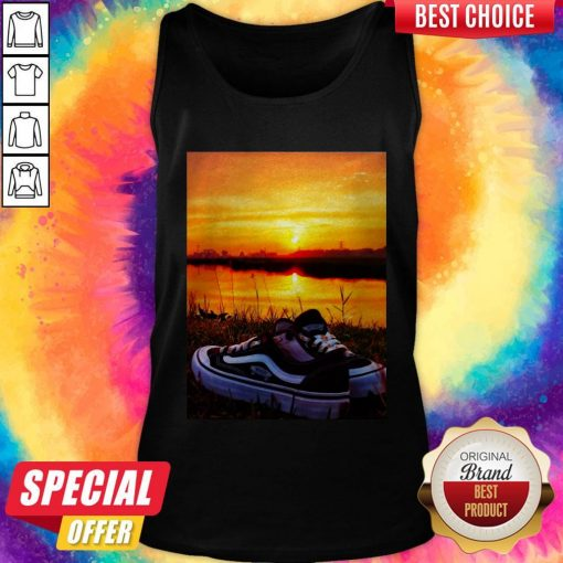 Official Sunset Sport Shoes Picture Tank Top