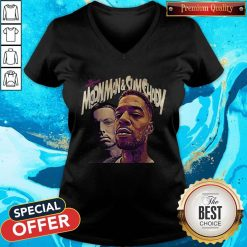Official The Adventures Of Moonman And Slim Shady V-neck