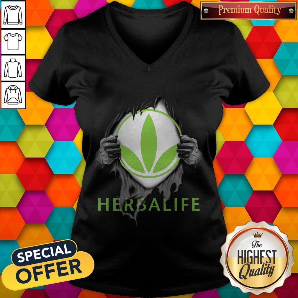 Oficial Blood Inside Me Herbalife V-neck