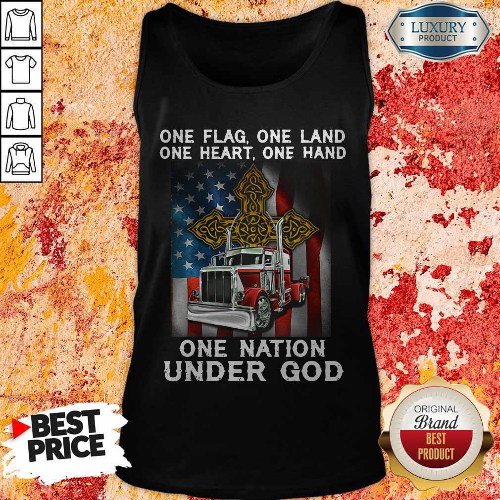One Flag One Land One Heart One Hand One Nation Under God Truck American Tank Top