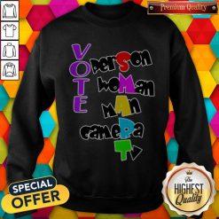 Person Woman Man Camera TV Shirt, Anti Trump Shirt, 2020 Elections Sweatshirt