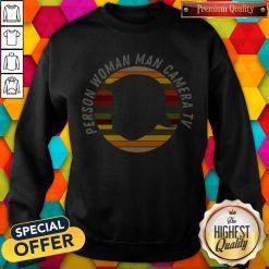 Person Woman Man Camera Tv T Shirt, Trump Cognitive Test Vintage Sweatshirt