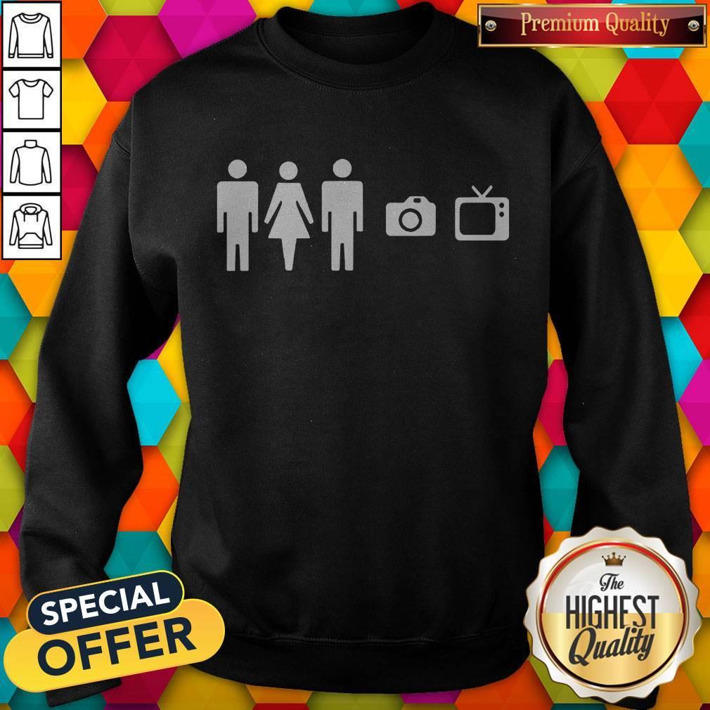 Person Women Man Camera TV Anti Trump Joe Biden 2020 Sweatshirt