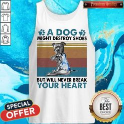Pit Bull A Dog Might Destroy Shoes But Will Never Break Your Heart Vintage Tank Top