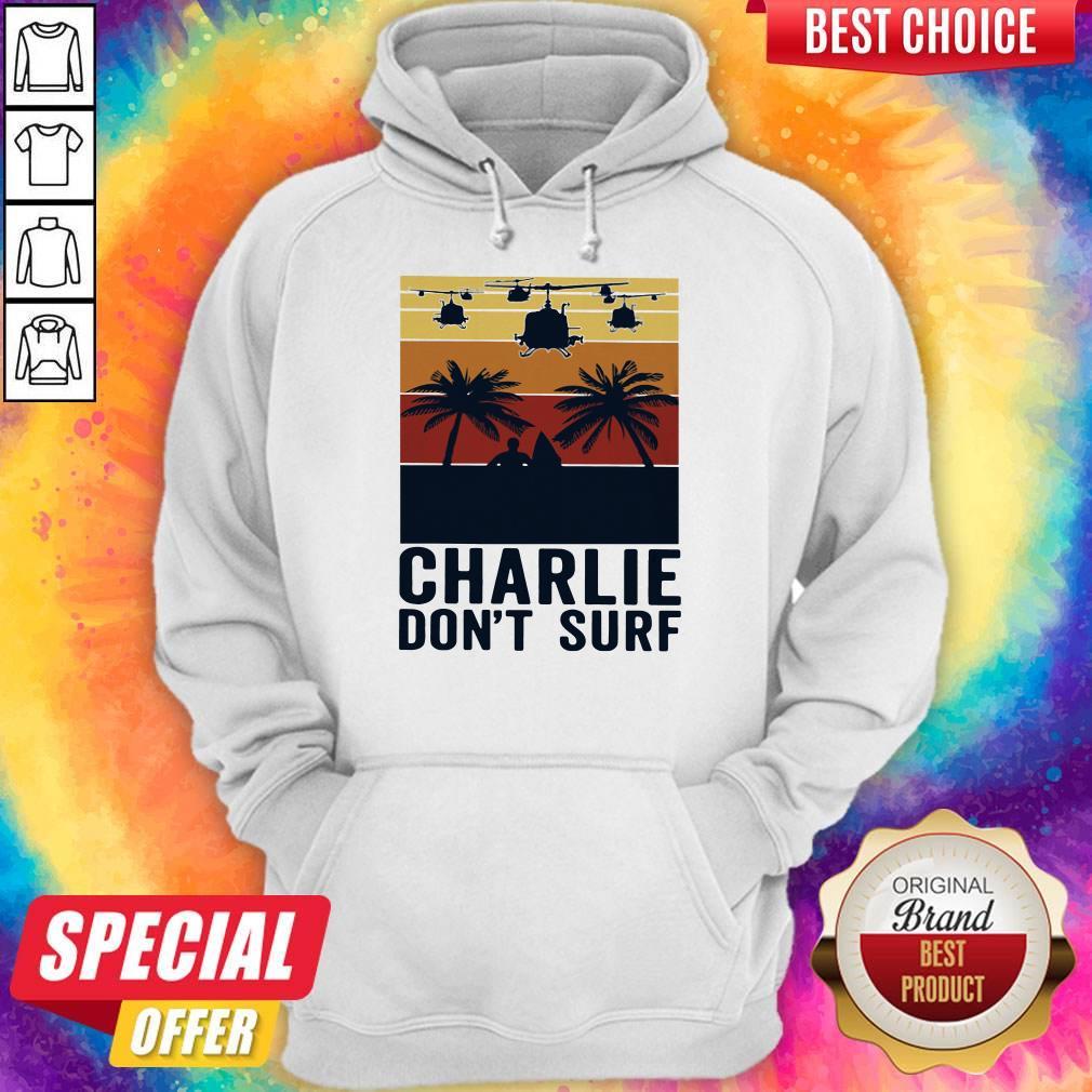 Premium Charlie Don't Surf Vintage Hoodie