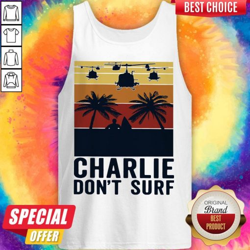 Premium Charlie Don't Surf Vintage Tank Top