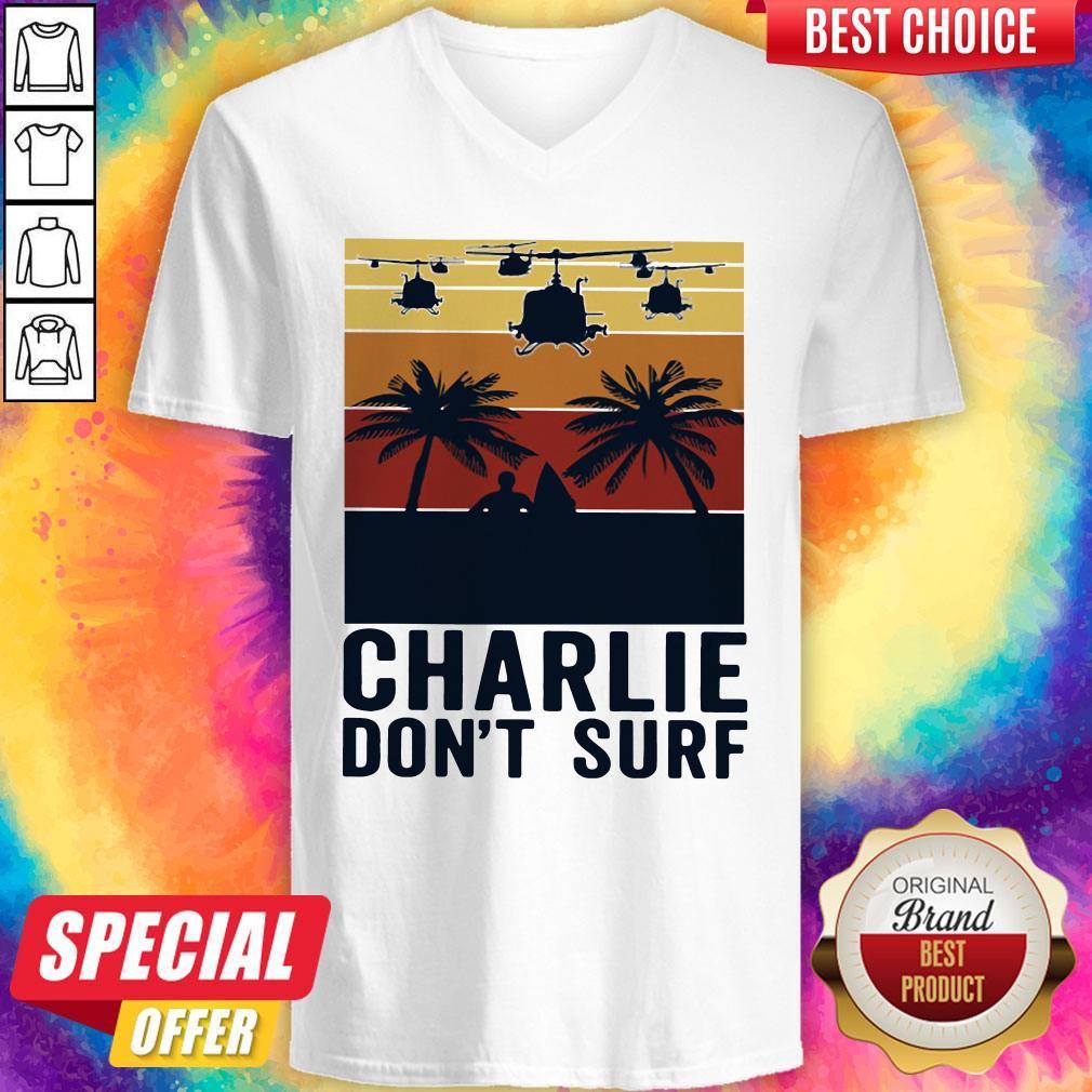 Premium Charlie Don't Surf Vintage V-neck