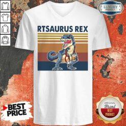 Respiratory Therapist Rtsaurus Rex Vintage V-neck