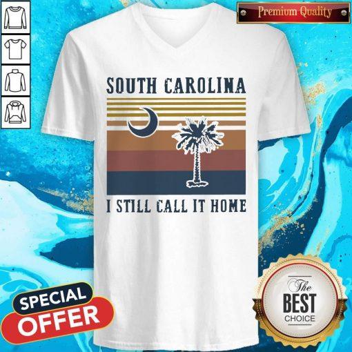 South Carolina I Still Call It Home Vintage V-neck