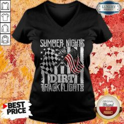 Summer Nights Dirt Track Light V-neck