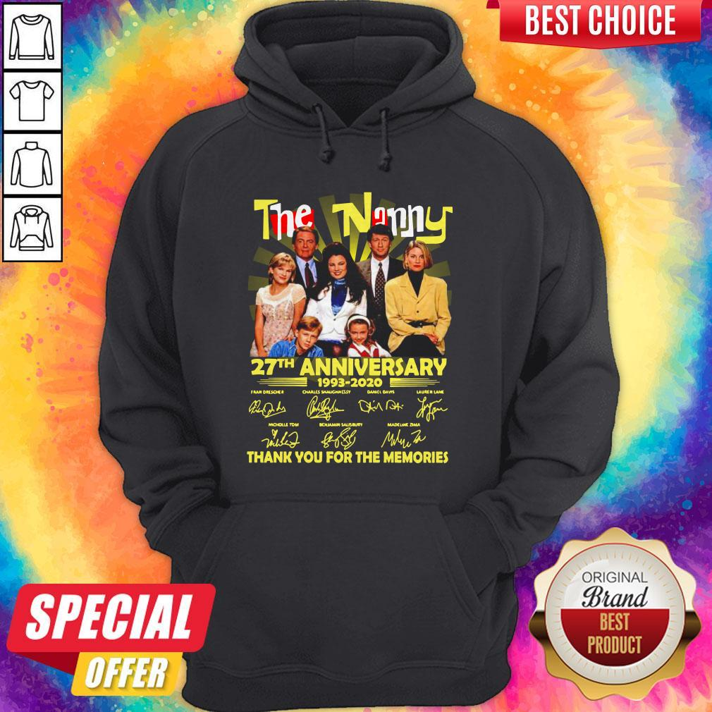 The Nanny 27th Anniversary 1993 2020 Thank You For The Memories Signatures Hoodie