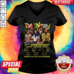 The Nanny 27th Anniversary 1993 2020 Thank You For The Memories Signatures V-neck