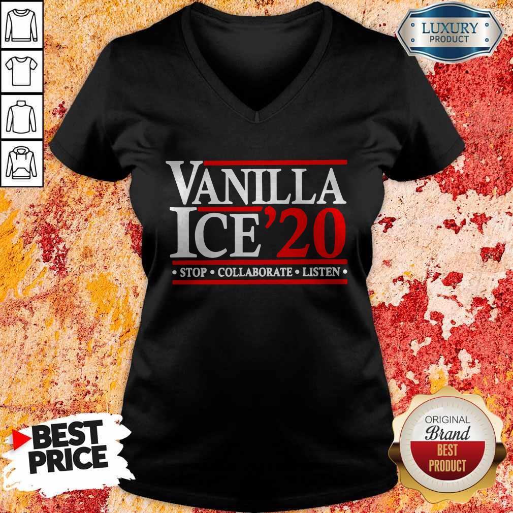 Vanilla Ice' 20 Stop Collaborate Listen V-neck