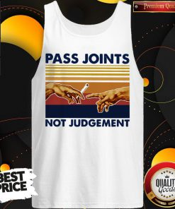Weed Pass Joints Not Judgement Vintage Retro Tank Top