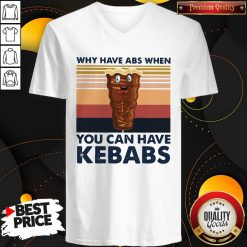 Why Have Abs When You Can Have Kebabs Vintage Retro V-neck