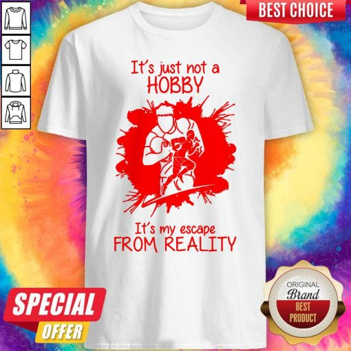 Men Playing American FootBall It's Just Not A Hobby It's My Escape From Reality Shirt