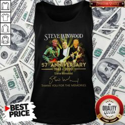 Steve Winwood 57th Anniversary 1963 2020 Thank You For The Memories Signatures Tank Top