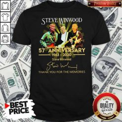 Steve Winwood 57th Anniversary 1963 2020 Thank You For The Memories Signatures Shirt