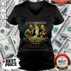 Steve Winwood 57th Anniversary 1963 2020 Thank You For The Memories Signatures V-neck