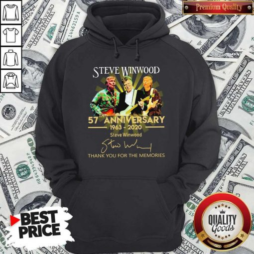 Steve Winwood 57th Anniversary 1963 2020 Thank You For The Memories Signatures Hoodie