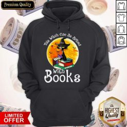 Black Cat This Witch Can Be Bribed With Books Halloween Hoodie