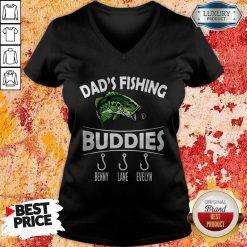 Dad's Fishing Buddies Benny Lane Evelyn V-neck
