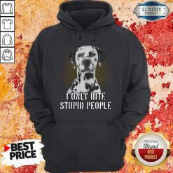 Dalmatian I Only Bite Stupid People Hoodie