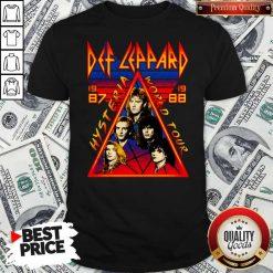 Def Leppard Hysteria World Tour 1987 Shirt