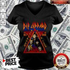 Def Leppard Hysteria World Tour 1987 V-neck