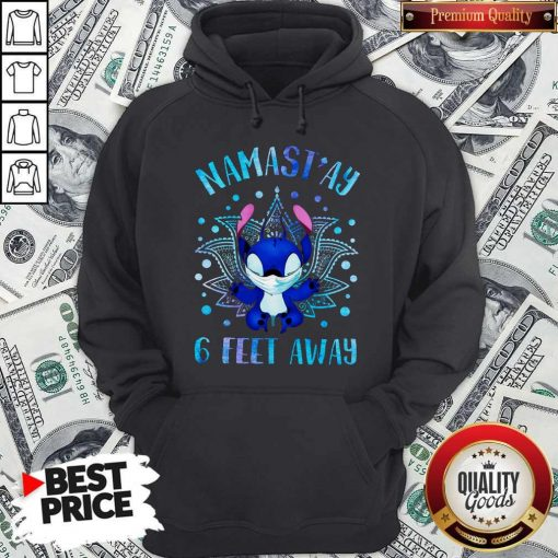 Disney Stitch Mask Namastay 6 Feet Away Hoodie
