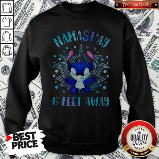 Disney Stitch Mask Namastay 6 Feet Away Sweatshirt