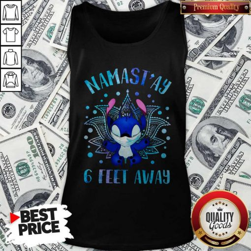 Disney Stitch Mask Namastay 6 Feet Away Tank Top