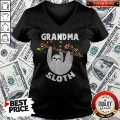 Grandma Sloth Matching Family For Men Women V-neck