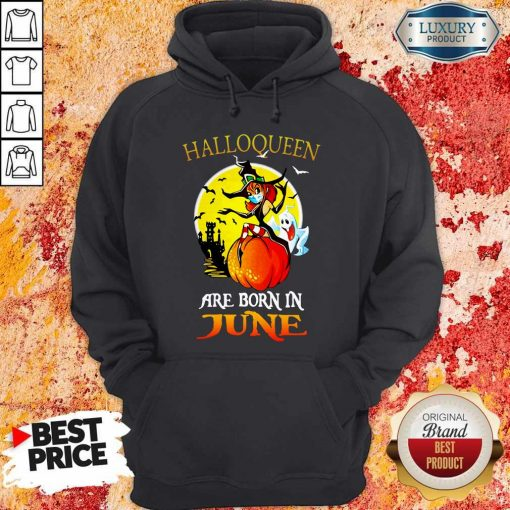 Halloqueen Are Born In June Ghost Witch Mask Hoodie