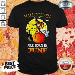Halloqueen Are Born In June Ghost Witch Mask Shirt