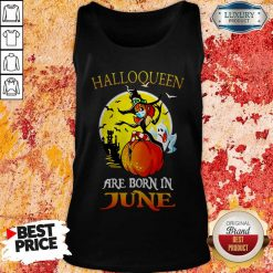 Halloqueen Are Born In June Ghost Witch Mask Tank Top