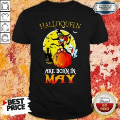 Halloqueen Are Born In May Ghost Witch Mask Shirt