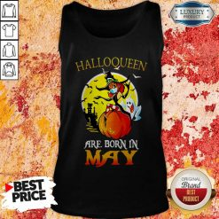 Halloqueen Are Born In May Ghost Witch Mask Tank Top