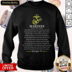 Marines If You Want It Easy Don'T Join This Branch Semper Fi Sweatshirt