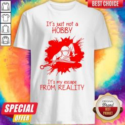 Men Playing Billiard It's Just Not A Hobby It's My Escape From Reality Shirt