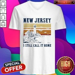 New Jersey I Still Call It Home Vintage V-neck