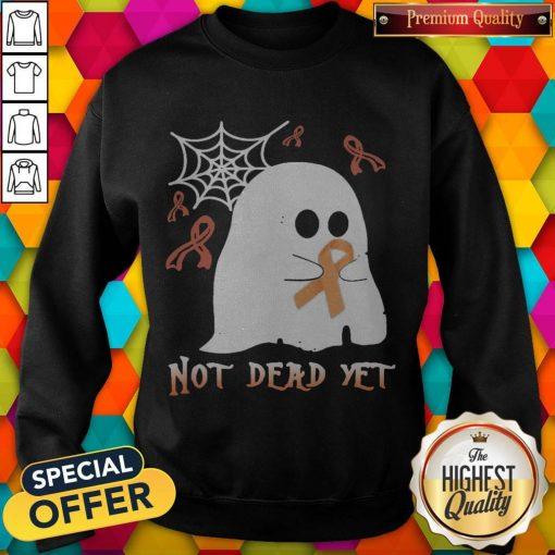 Not Dead Yet Ghost Halloween Sweatshirt