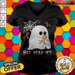 Not Dead Yet Ghost Halloween V-neck