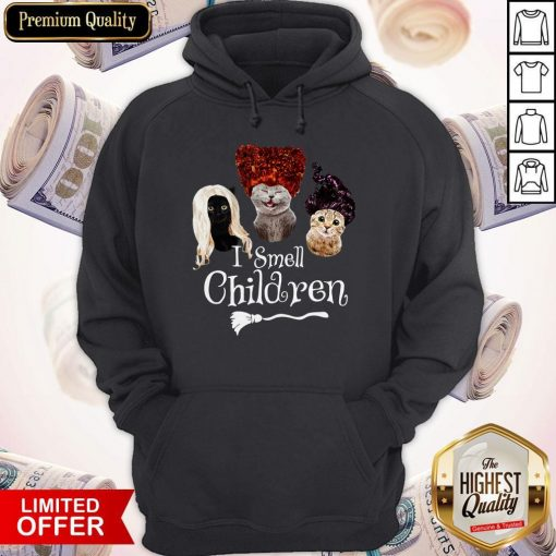 Official Cats Hocus Pocus I Smell Children Hoodie