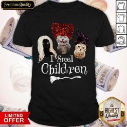 Official Cats Hocus Pocus I Smell Children Shirt
